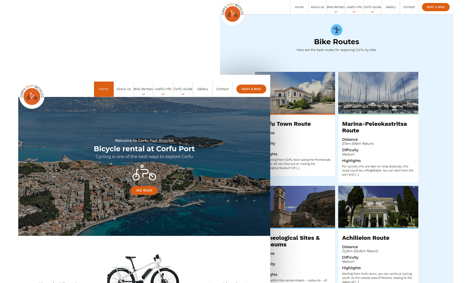 corfu port bicycles featured