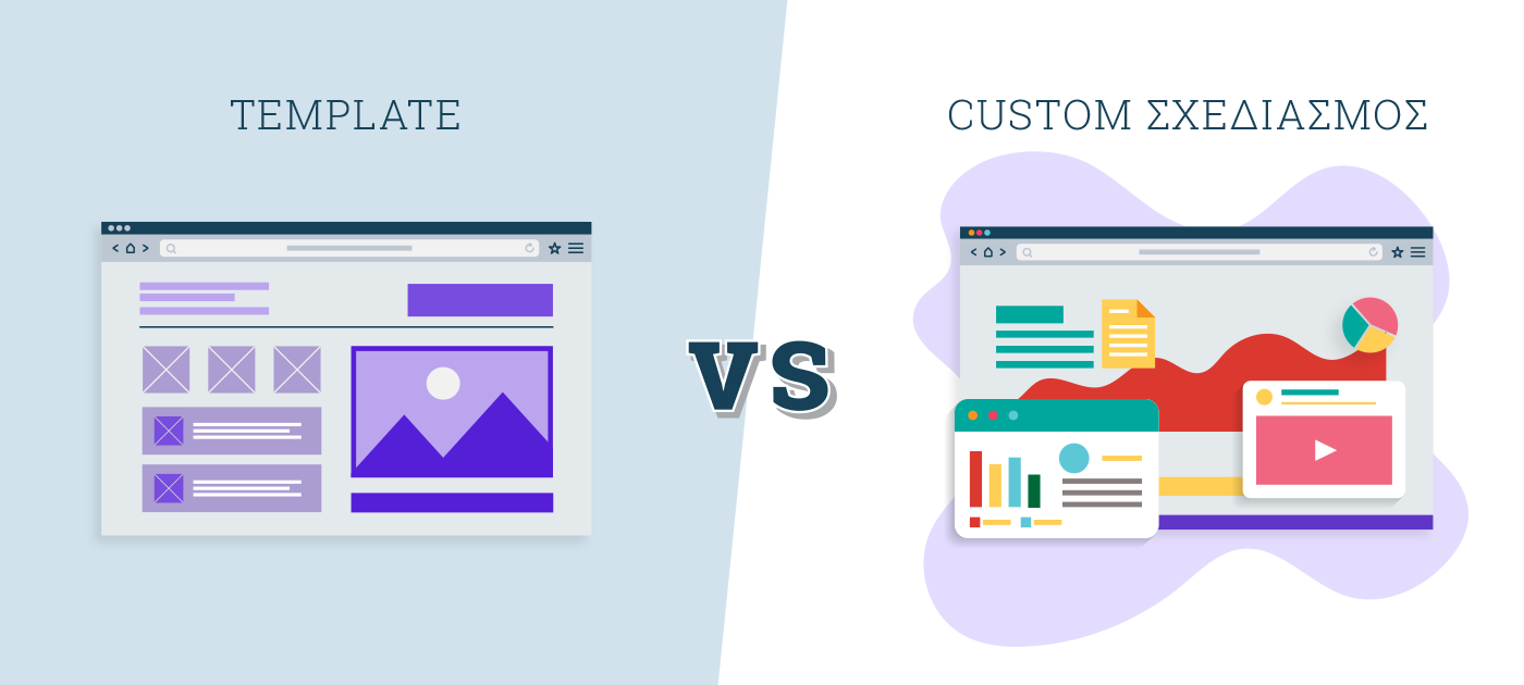 custom vs template website