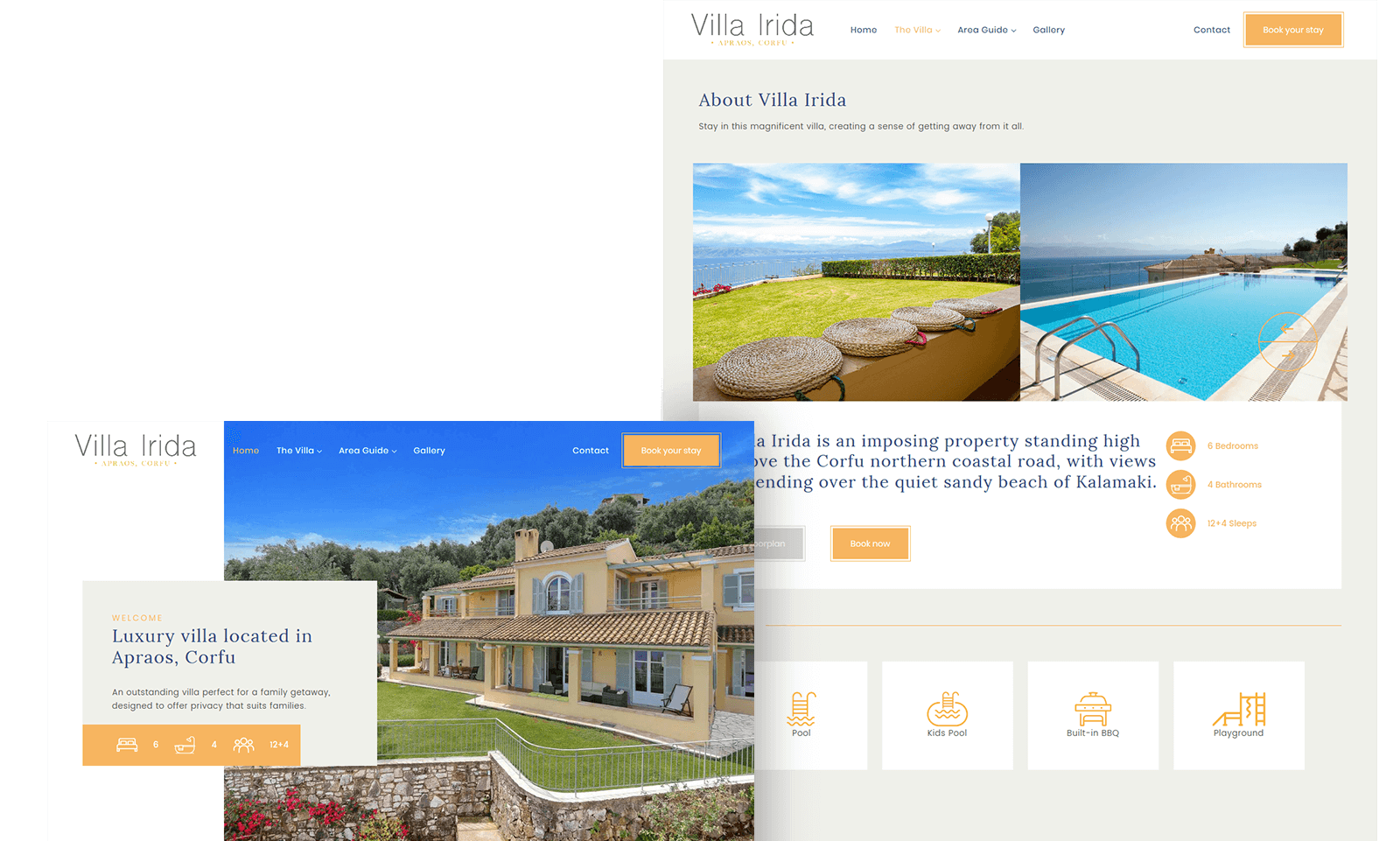 Villa Irida website | go Creations